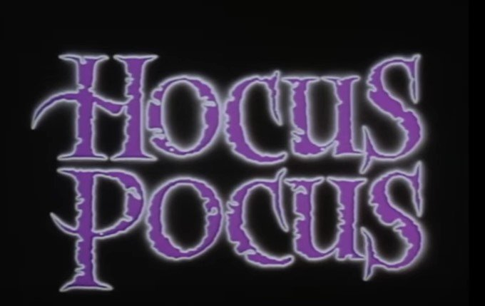 """Image of the text """"HOCUS POCUS"""" 