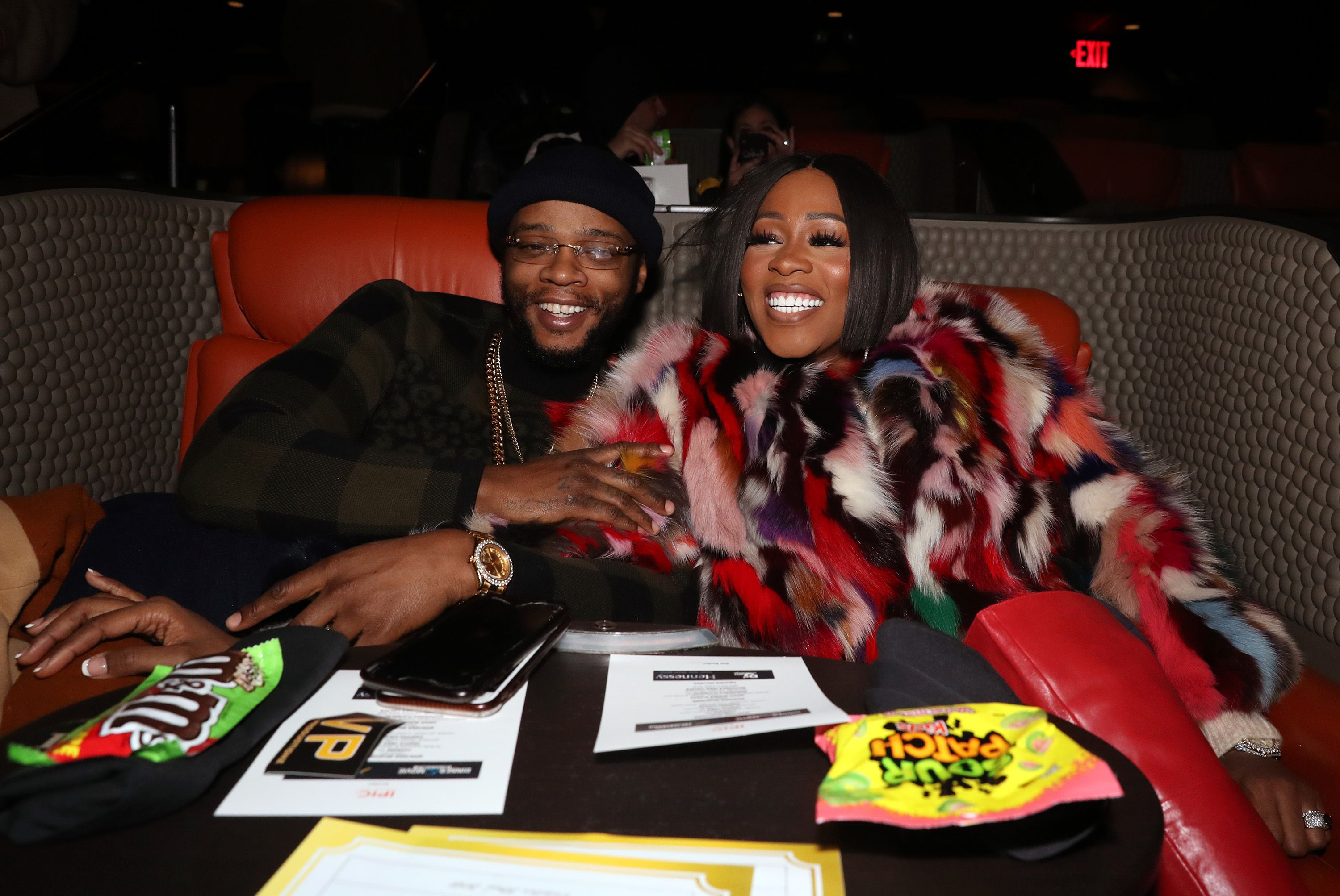 """Papoose and Remy Ma at the """"Suss-One Dinner and a Movie"""" at iPic Theater on December 19, 2019. 
