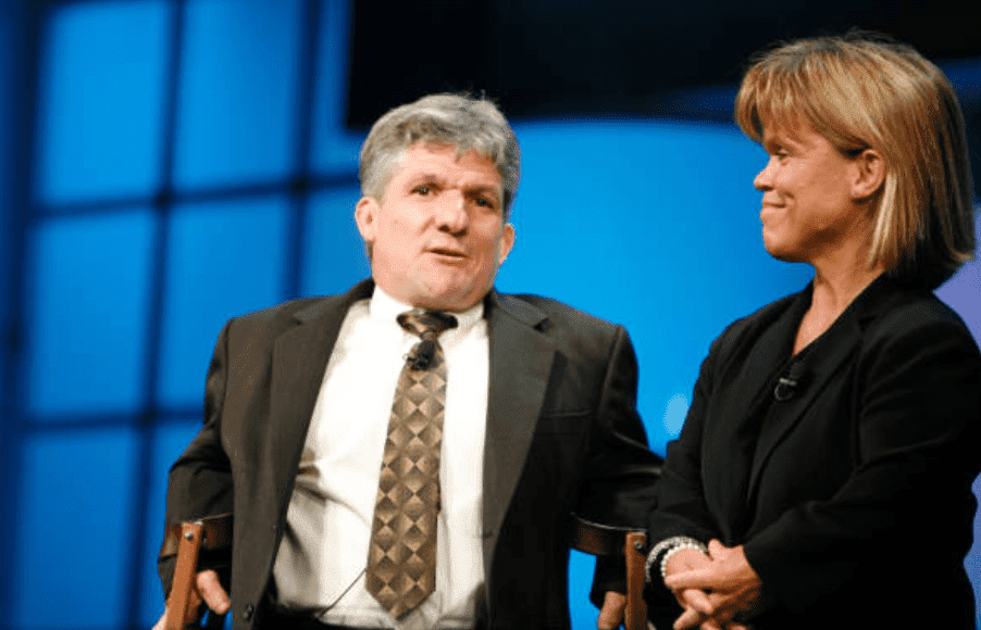 """""""Little People Big World,"""" Matt Roloff and Amy Roloff speak at Discovery Upfront event, on April 23, 2008, in New York City 