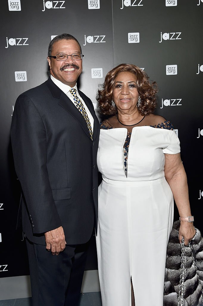 Aretha Franklin and Willie Wilkerson at the opening of the Mica and Ahmet Ertegun Atrium in New York in December 2015. | Photo: Getty Images