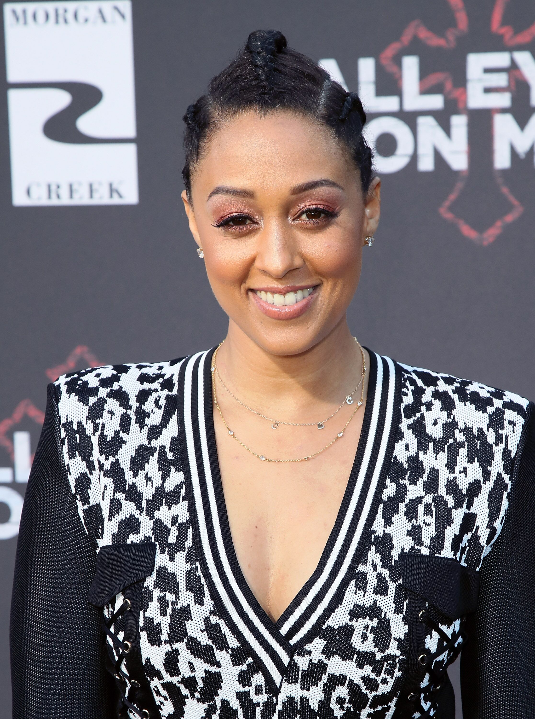 """The Game"" actress Tia Mowry at the premiere of ""All Eyes On Me""/ Source: Getty Images"