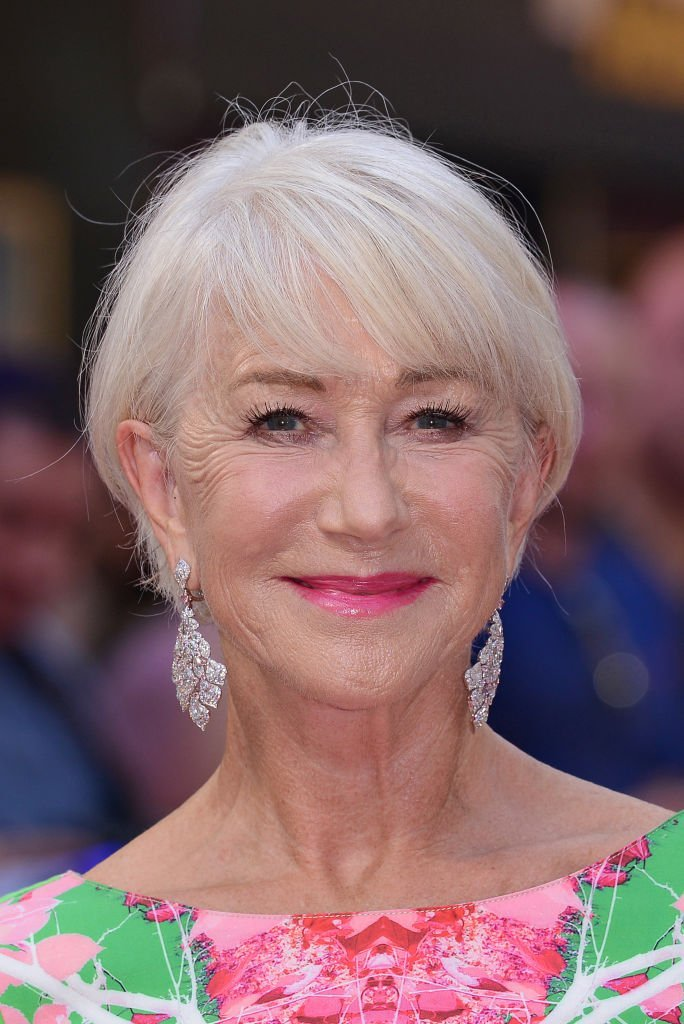 """Helen Mirren at the """"Fast & Furious: Hobbs & Shaw"""" special screening in London in July 2019. 