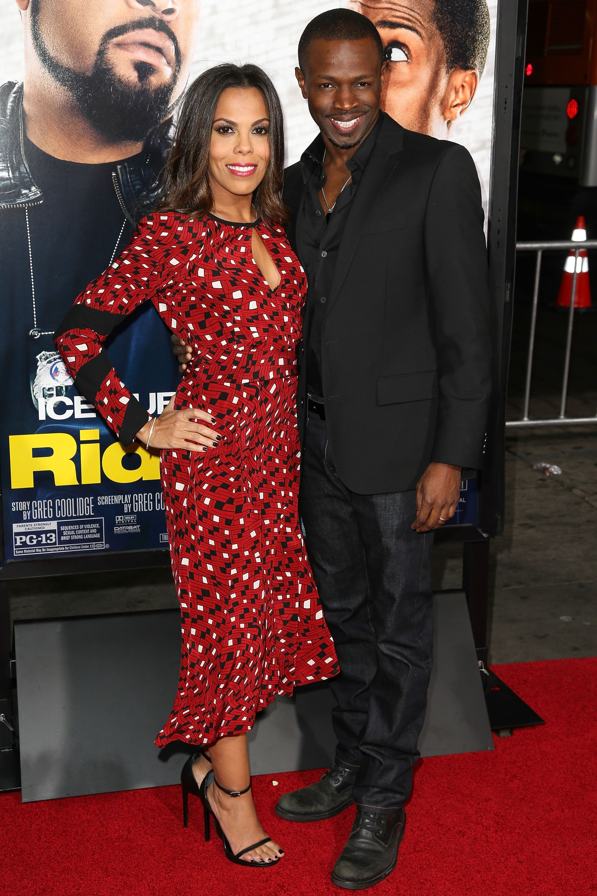 """Sean Patrick Thomas and Aonika Laurent, at the premiere of """"Ride Along"""" on January 13, 2014 in Hollywood. 