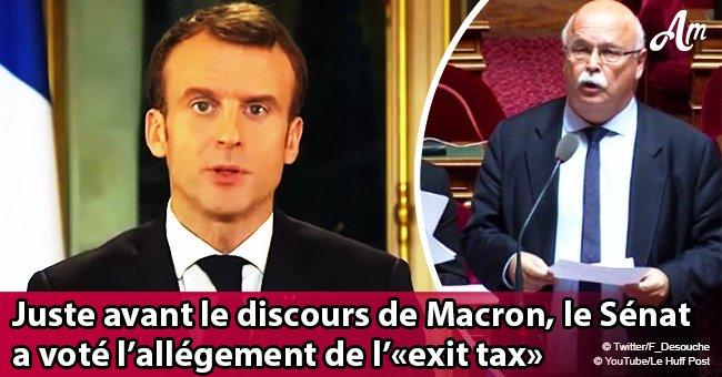 Pendant le communiqué de Macron à la télévision, le Sénat a assoupli l'impôt de sortie