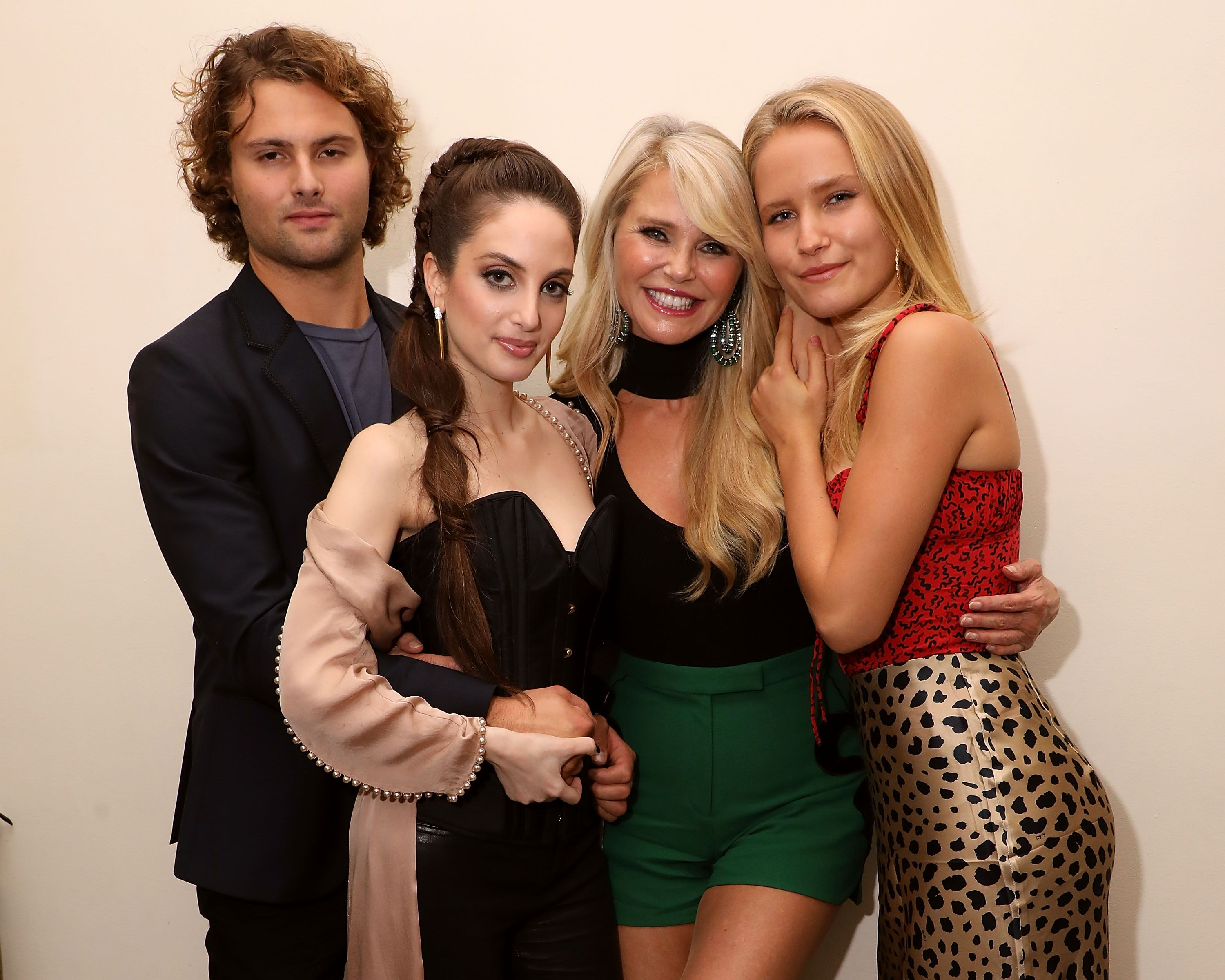 Jack Brinkley-Cook, Alexa Ray Joel, Christie Brinkley, and Sailor Lee Brinkley-Cook celebrate the opening night of Alexa Ray Joel's 2018 residency at Cafe Carlyle on September 25, 2018 in New York City. | Source: Getty Images