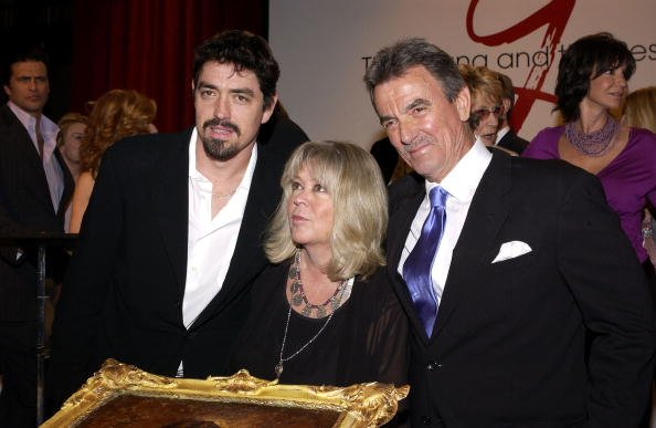 Eric Braeden, Dale and their son Christian at CBS Television City in Los Angeles, California. | Photo: Getty Images.
