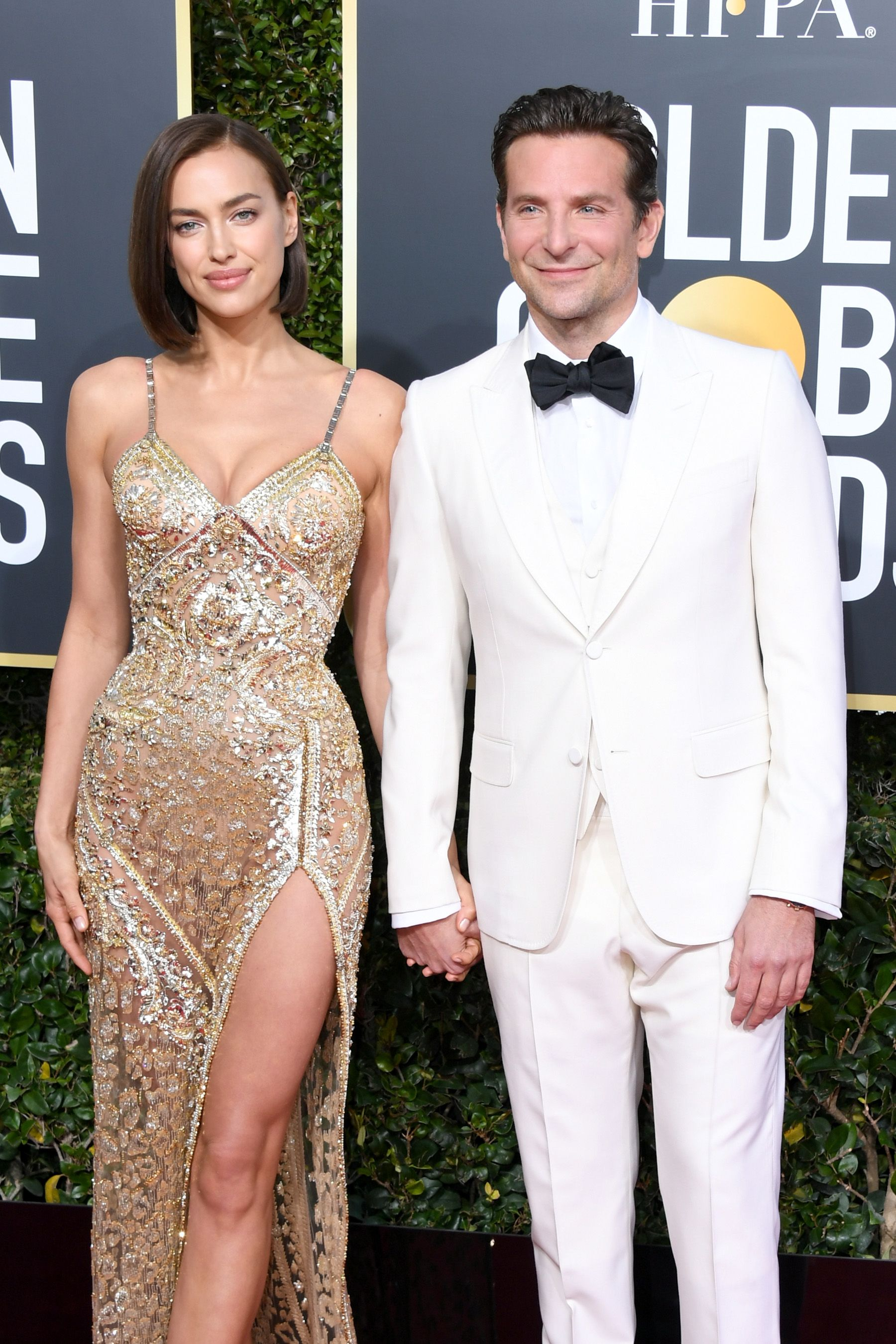 Irina Shayk and Bradley Cooper attend the 76th Annual Golden Globe Awards on January 6, 2019, in Beverly Hills, California.   Source: Getty Images