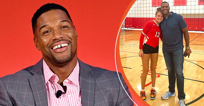 A photo collage of Michael Strahan and his daughter Isabella | Source: Instagram.com/michaelstrahan, Getty Images