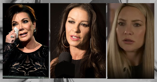 A collage of Kris Jenner, Catherine Zeta-Jones and Kate Hudson. | Photo: Shutterstock | Getty Images | Unsplash