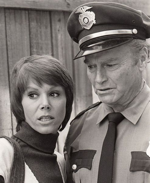 "Judy Carne & Donald Barry (aka Don ""Red"" Barry) in the TV series Ironside. 