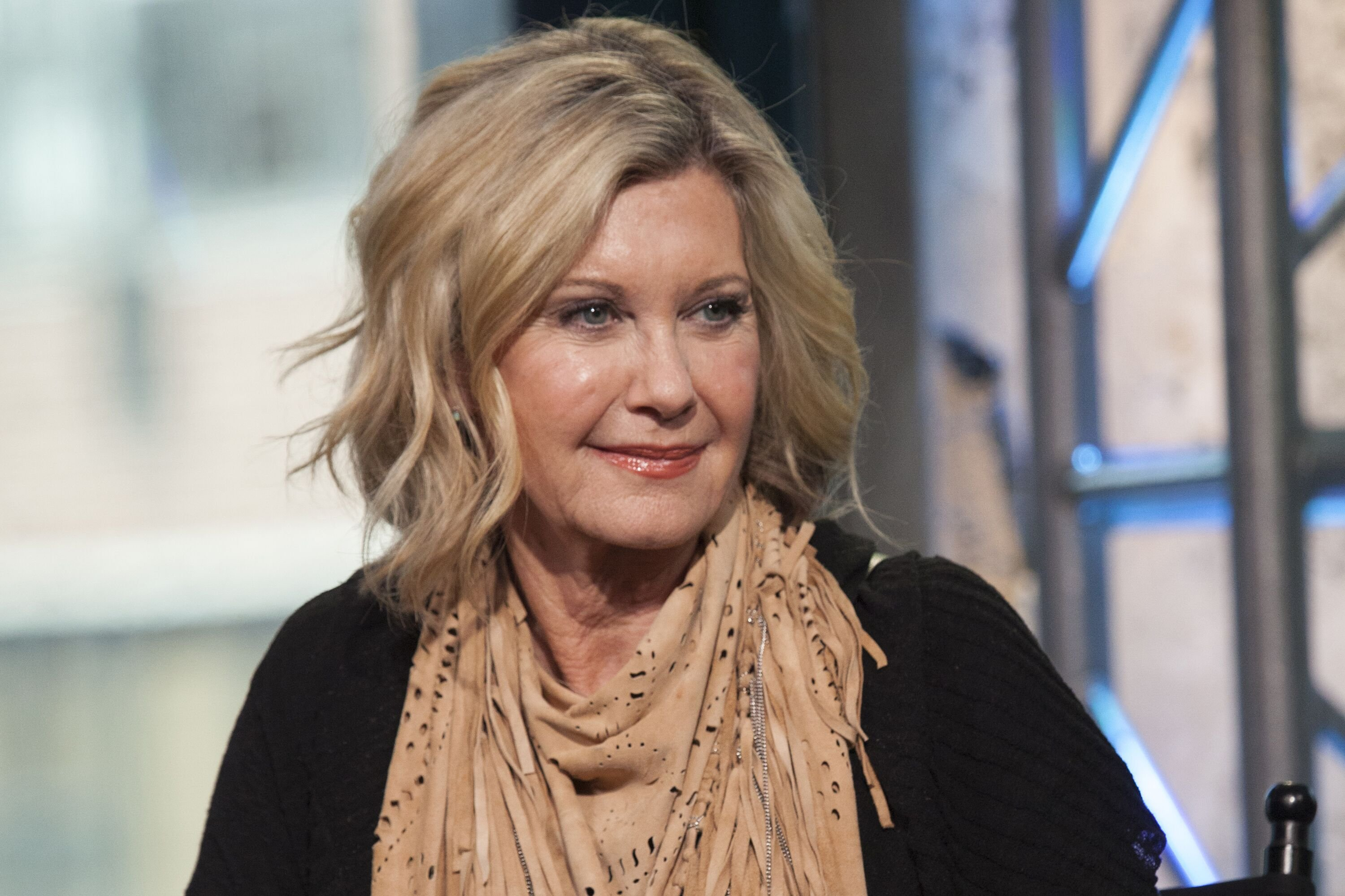 """Olivia Newton-John attends The Build Series Presents Olivia Newton-John, Amy Sky And Beth Nielsen Chapman Discussing The New Project """"LIV ON"""" at AOL HQ in New York City 