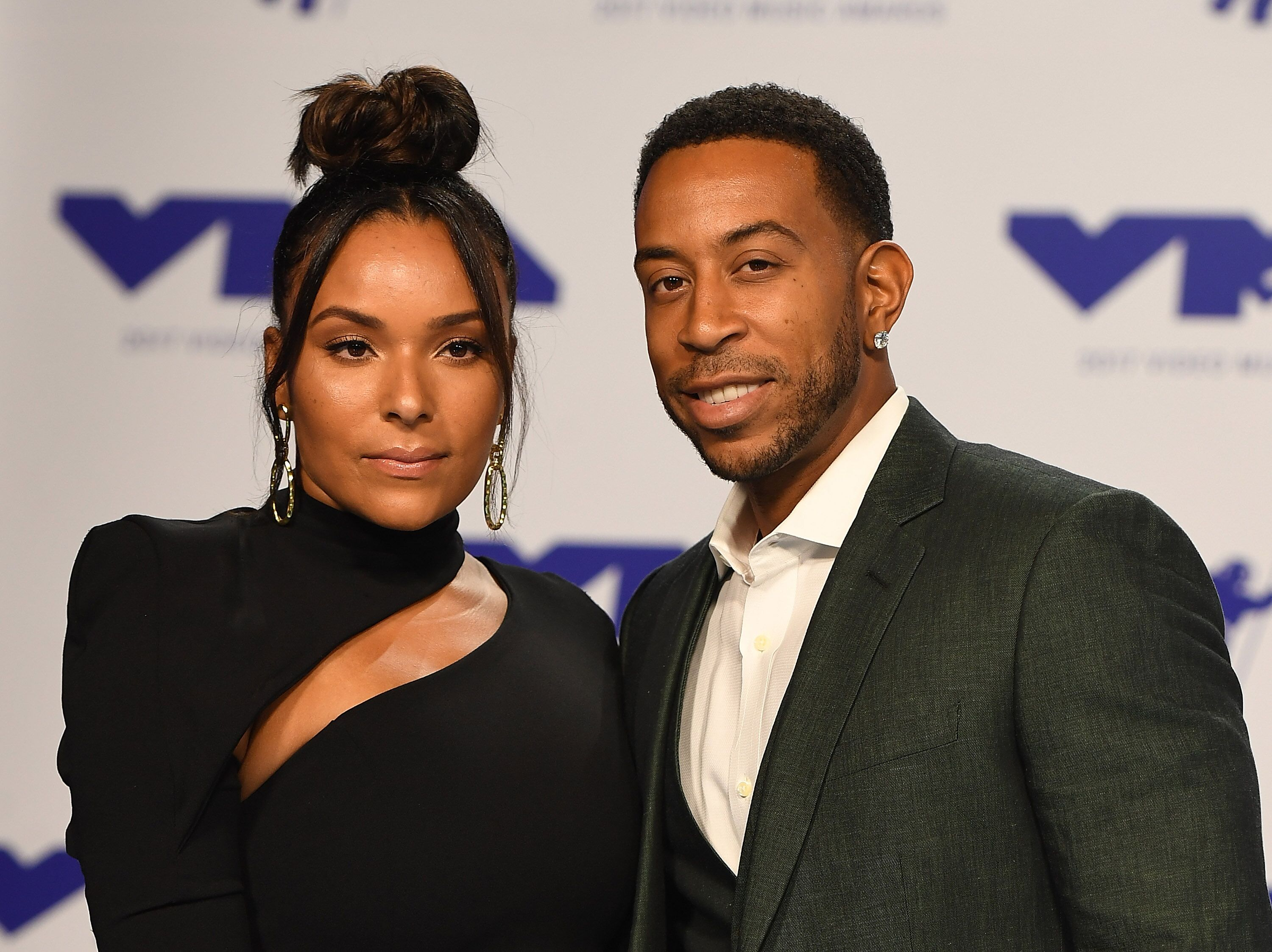 Ludacris and Eudoxie Mbouguiengue attend the 2017 MTV Video Music Awards at The Forum on August 27, 2017 | Photo: Getty Images