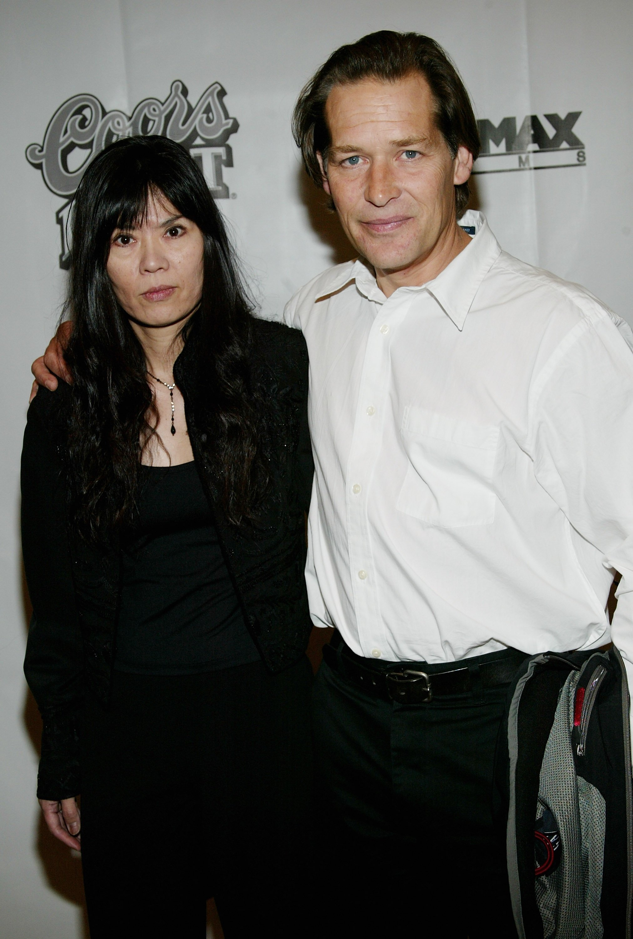 "James Remar and wife, Atsuko, attend the ""Duplex"" film premiere at the Beekman Theater September 18, 2003, in New York City. 