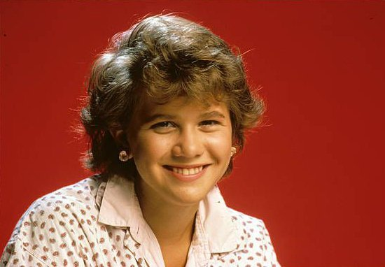 """Tracey Gold in a photo shoot for """"Growing Pains"""" in 1985 