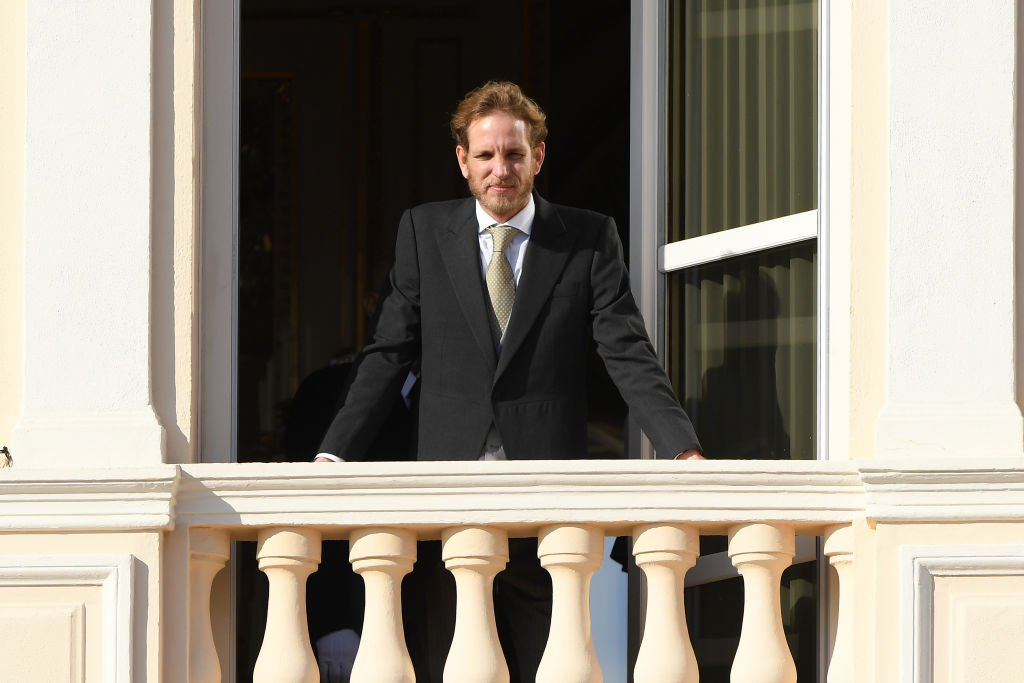 Andrea Casiraghi poses at the Palace balcony during the Monaco National Day Celebrations. | Source: Getty Images