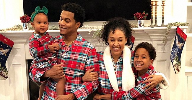 Tia Mowry, Husband Cory Hardrict and Their Kids Cree & Cairo Melt Hearts Posing in Matching Christmas Pajamas
