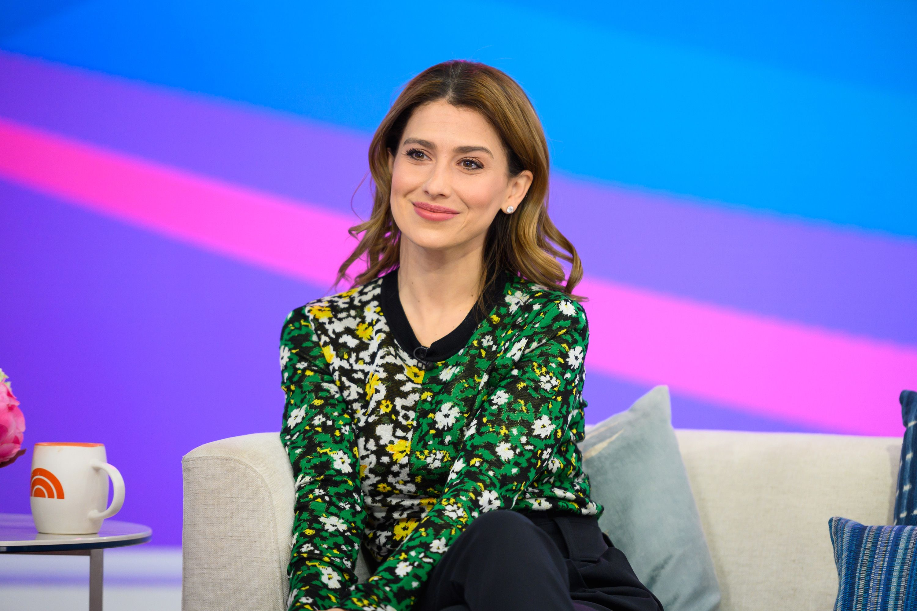 "Hilaria Baldwin at the 68th season of ""Today"" on Tuesday, April 9, 2019 