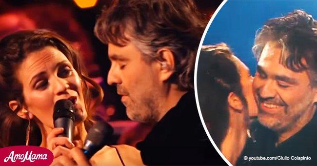 Ein seltenes Video von Andrea Bocelli, der mit seiner Frau in Vegas singt, ist immer noch unglaublich