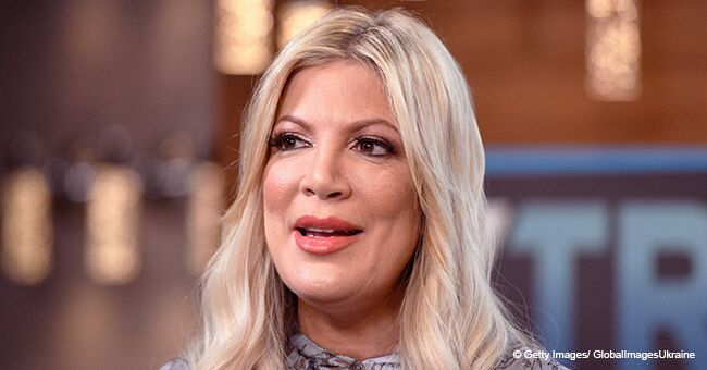Tori Spelling Slammed after Posting Make up Free Video