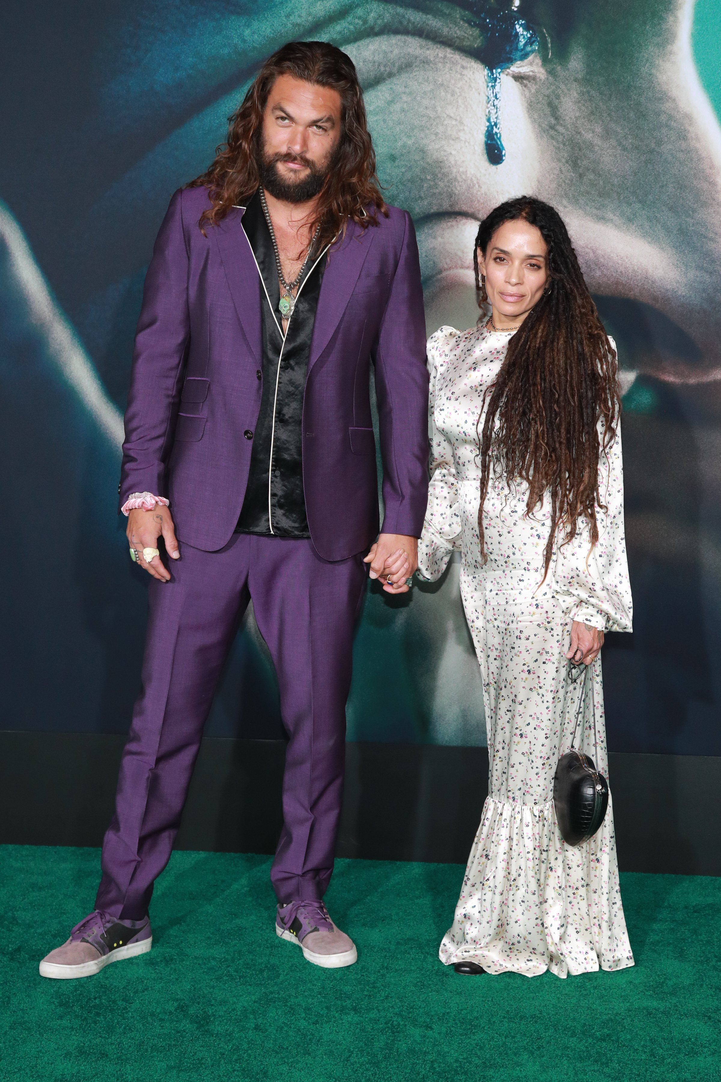"Jason Momoa and Lisa Bonet attend the premiere of Warner Bros Pictures ""Joker"" on September 28, 2019 