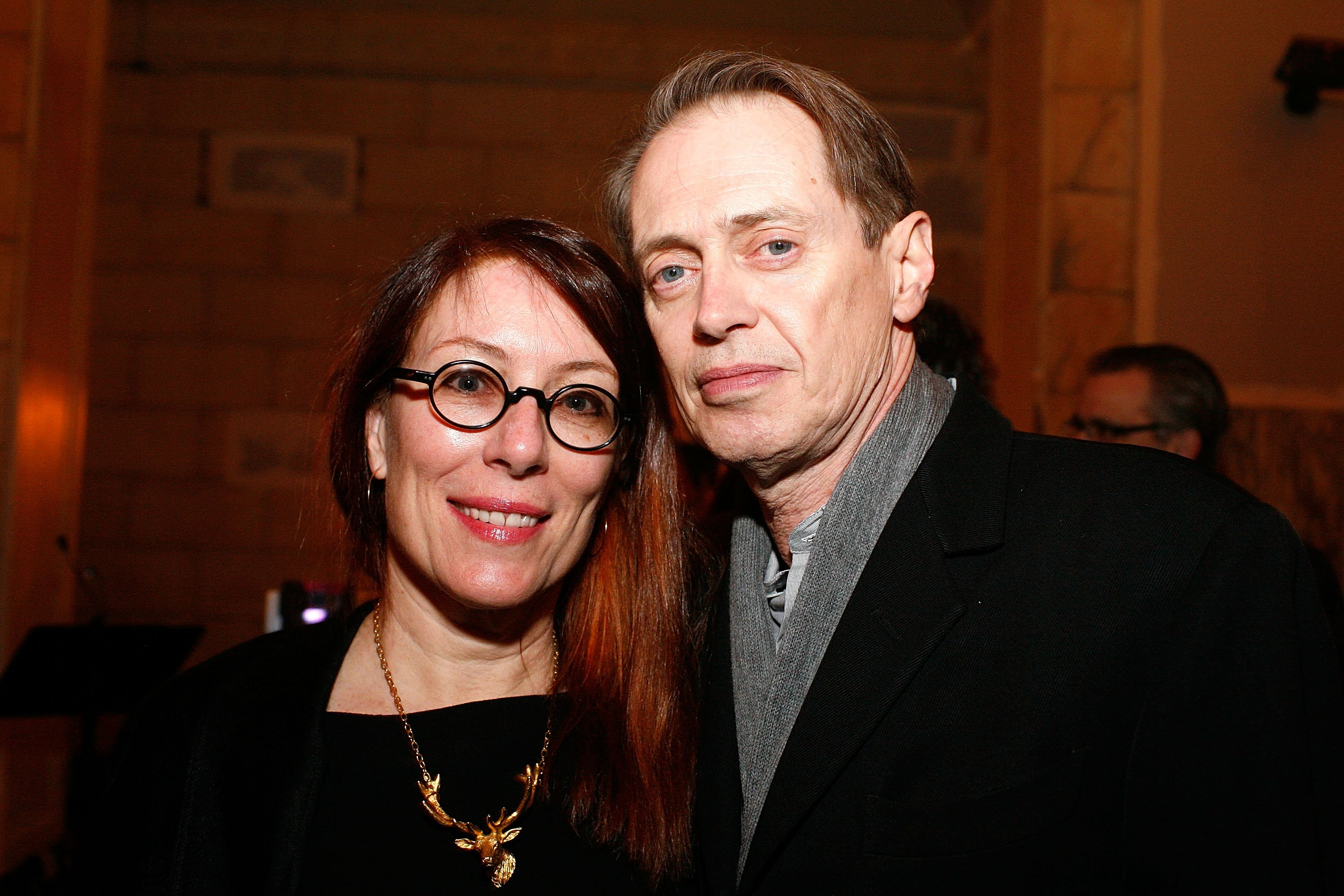 Jo Andres and Steve Buscemi attend the E. Sharp @ 60 Benefit Concert at the ISSUE Project Room on March 4, 2011 in the Brooklyn borough of New York City | Photo: GettyImages