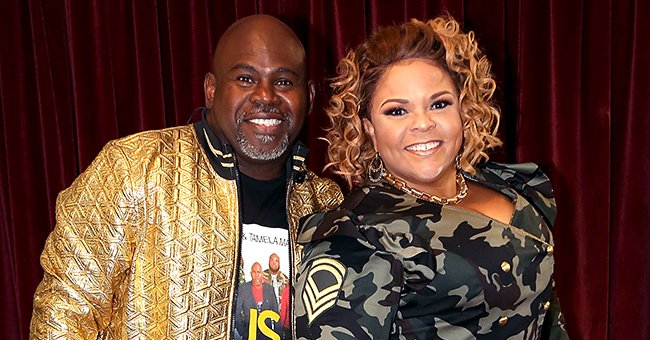 David and Tamela Mann Look so Happy as They Pose in White Outfits in Sweet Photo