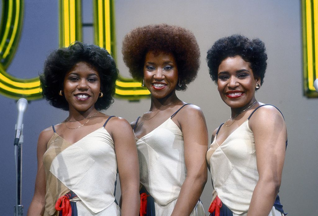 """Pamela Hutchinson with sisters Wanda and Sheila during their 1977 appearance on the TV show """"Soul Train"""" in Los Angeles. 