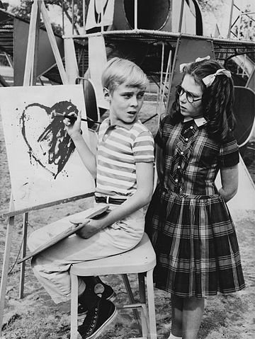 """Jeanne Russell and Jay North in """"Dennis the Menace"""" in 1963.   Source: Wikimedia Commons."""