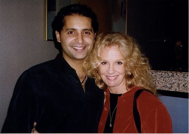 """Firdous Bamji & Hayley Mills attend the opening party of """"Indian Ink.""""   Source: Wikimedia Commons"""