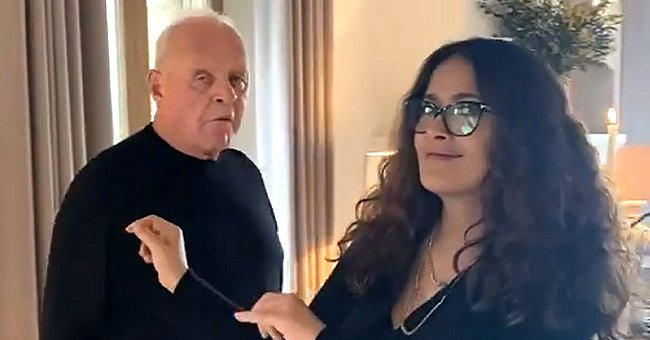 Salma Hayek and Anthony Hopkins Celebrate His 2nd Oscar as the Oldest Person to Win