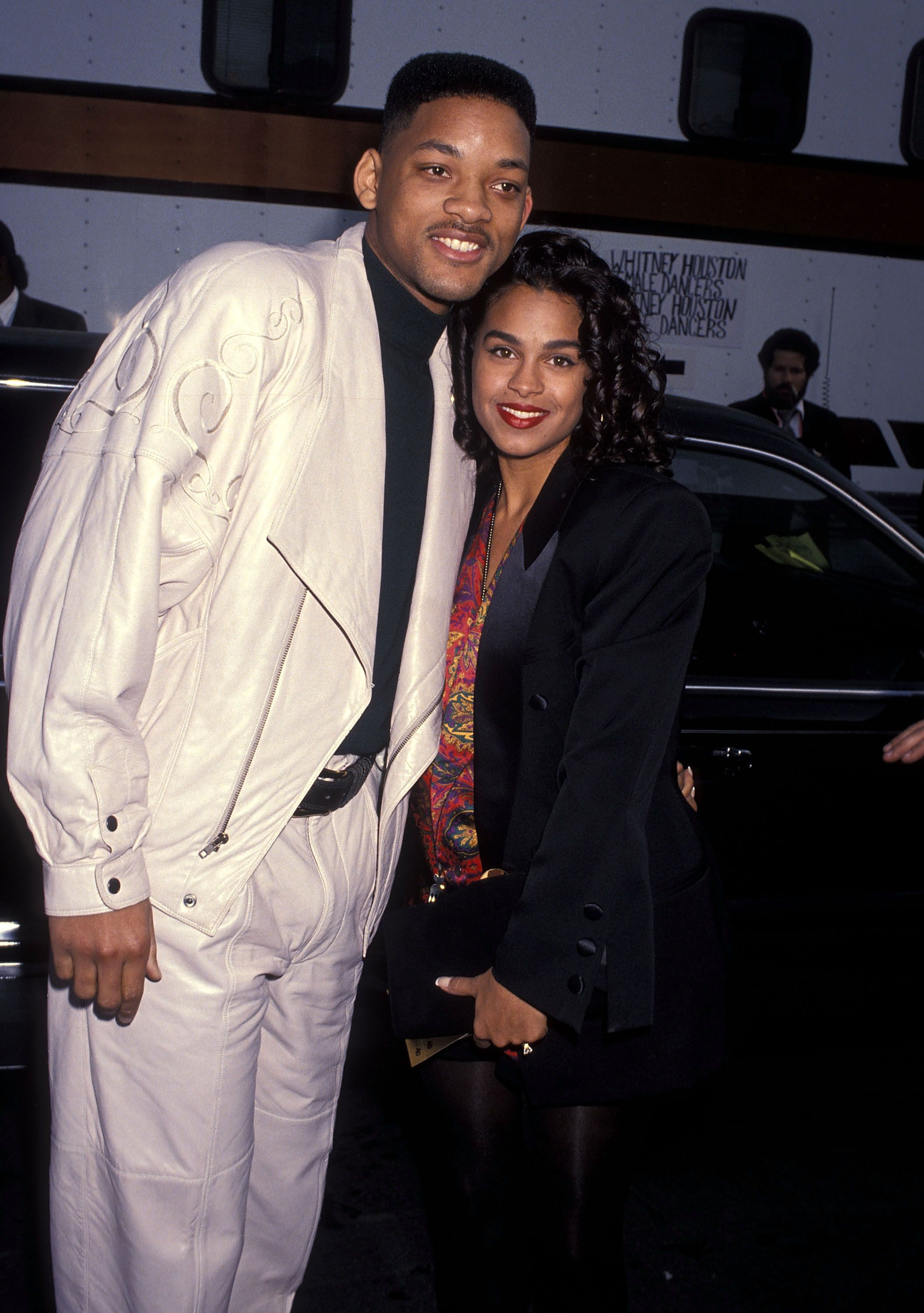Will Smith andSheree Zampino atthe 19th Annual American Music Awards on January 27, 1992,in Los Angeles, California   Photo:Ron Galella, Ltd./Ron Galella Collection/Getty Images