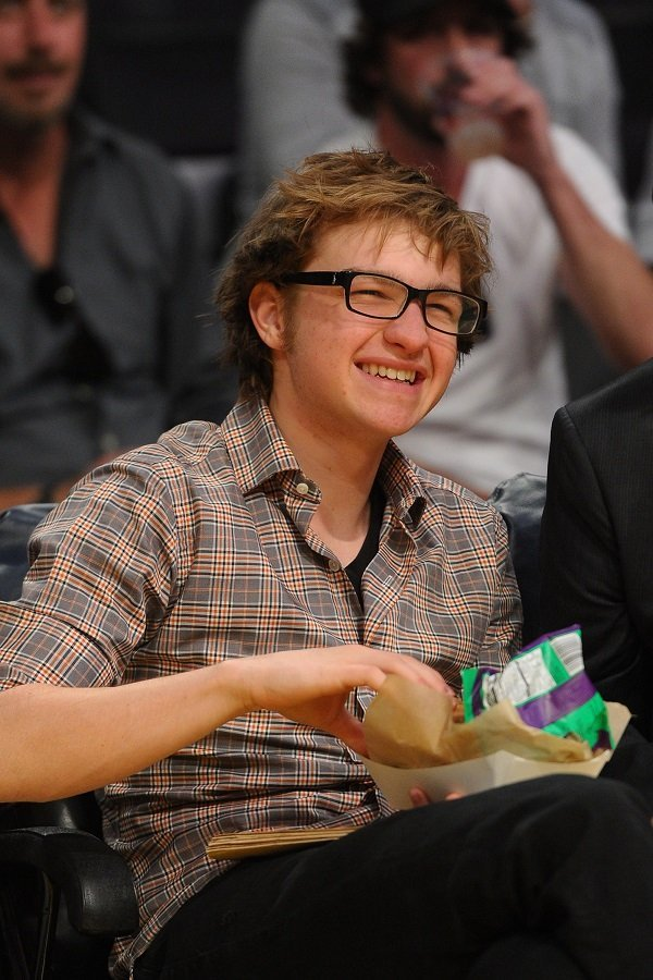 Angus T. Jones at Staples Center on April 6, 2012 in Los Angeles, California | Source: Getty Images