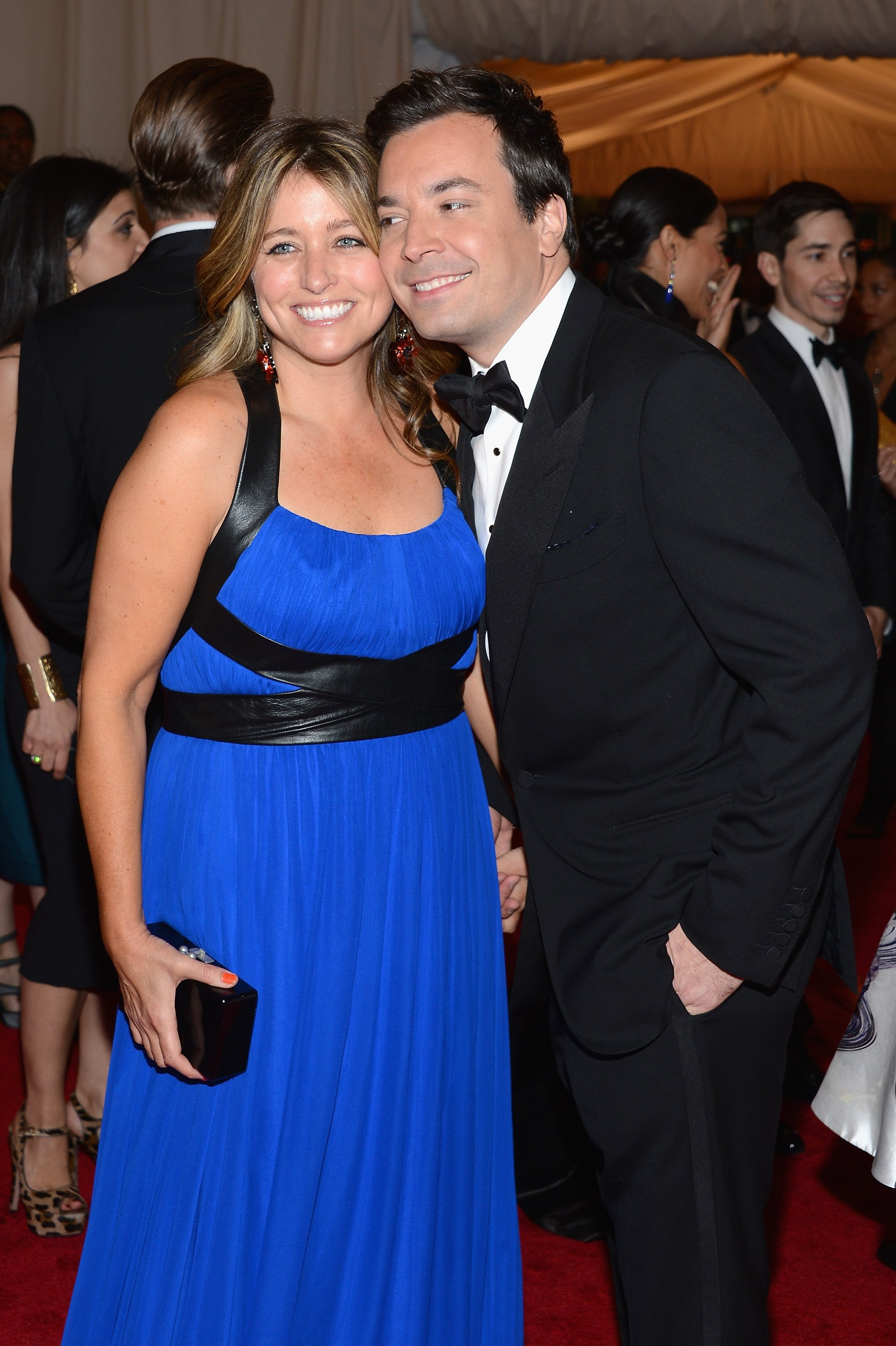 """Nancy Juvonen and Jimmy Fallon attend the """"Schiaparelli And Prada: Impossible Conversations"""" Costume Institute Gala at the Metropolitan Museum of Art on May 7, 2012 