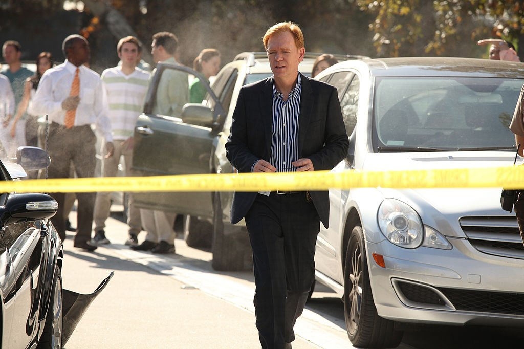 "David Caruso in der Folge von ""CSI: Miami"" unter dem Titel ""Terminal Velocity"" (Foto von Richard Cartwright / CBS über Getty Images) I Quelle: Getty Images"