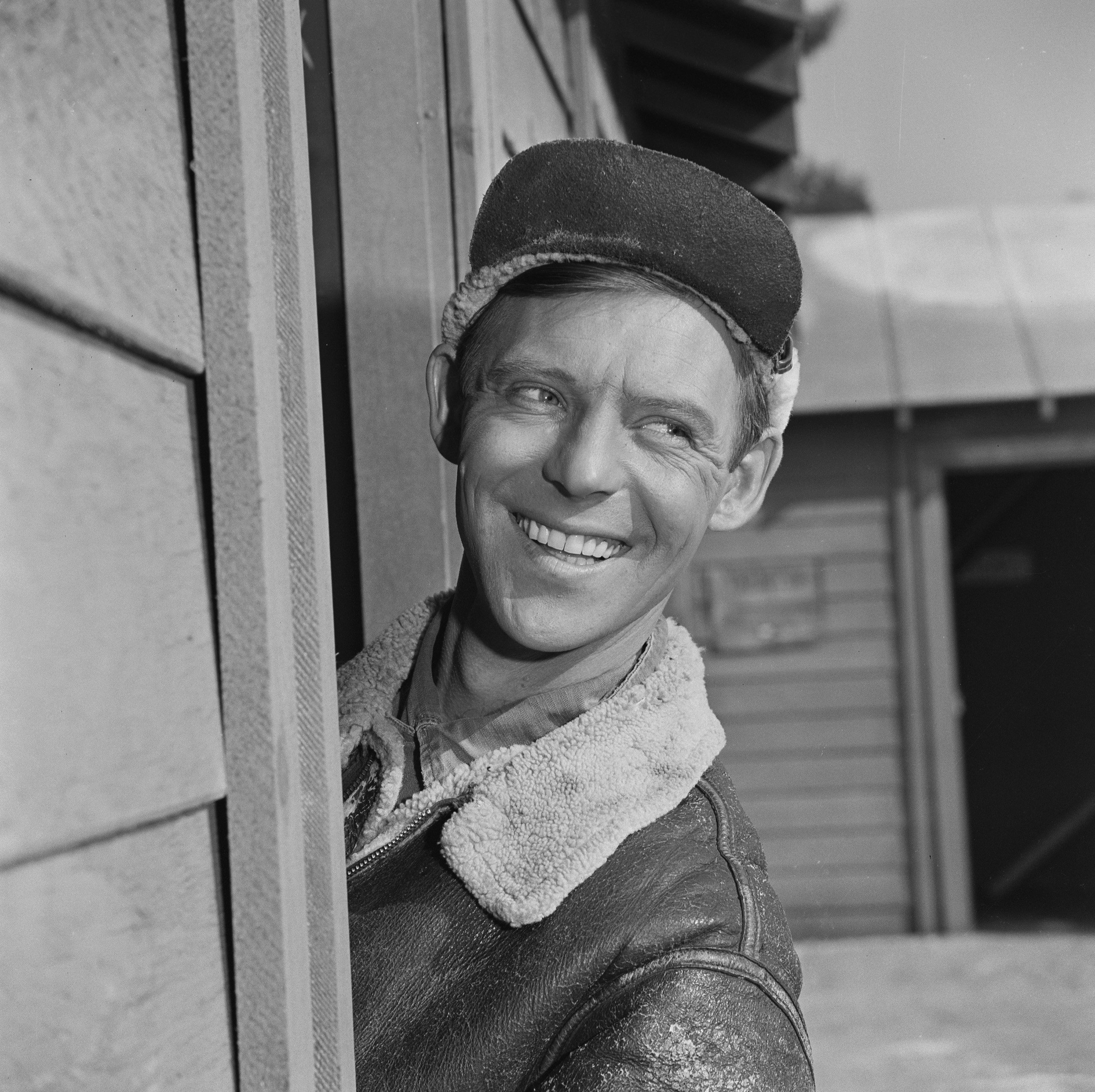 """Larry Hovis as Sgt. Andrew Carter in an episode from CBS' comedy television series, """"Hogan's Heroes"""", October 19, 1965. 