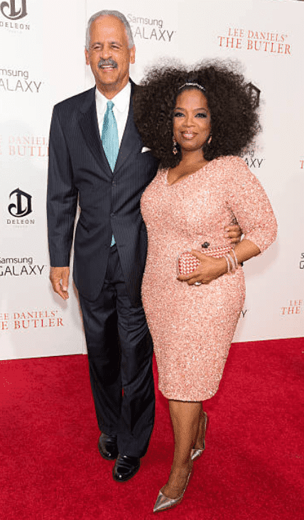 """Stedman Graham and Oprah Winfrey on the red carpet for the premiere of """"The Butler,"""" on August 5, 2013, in New York 