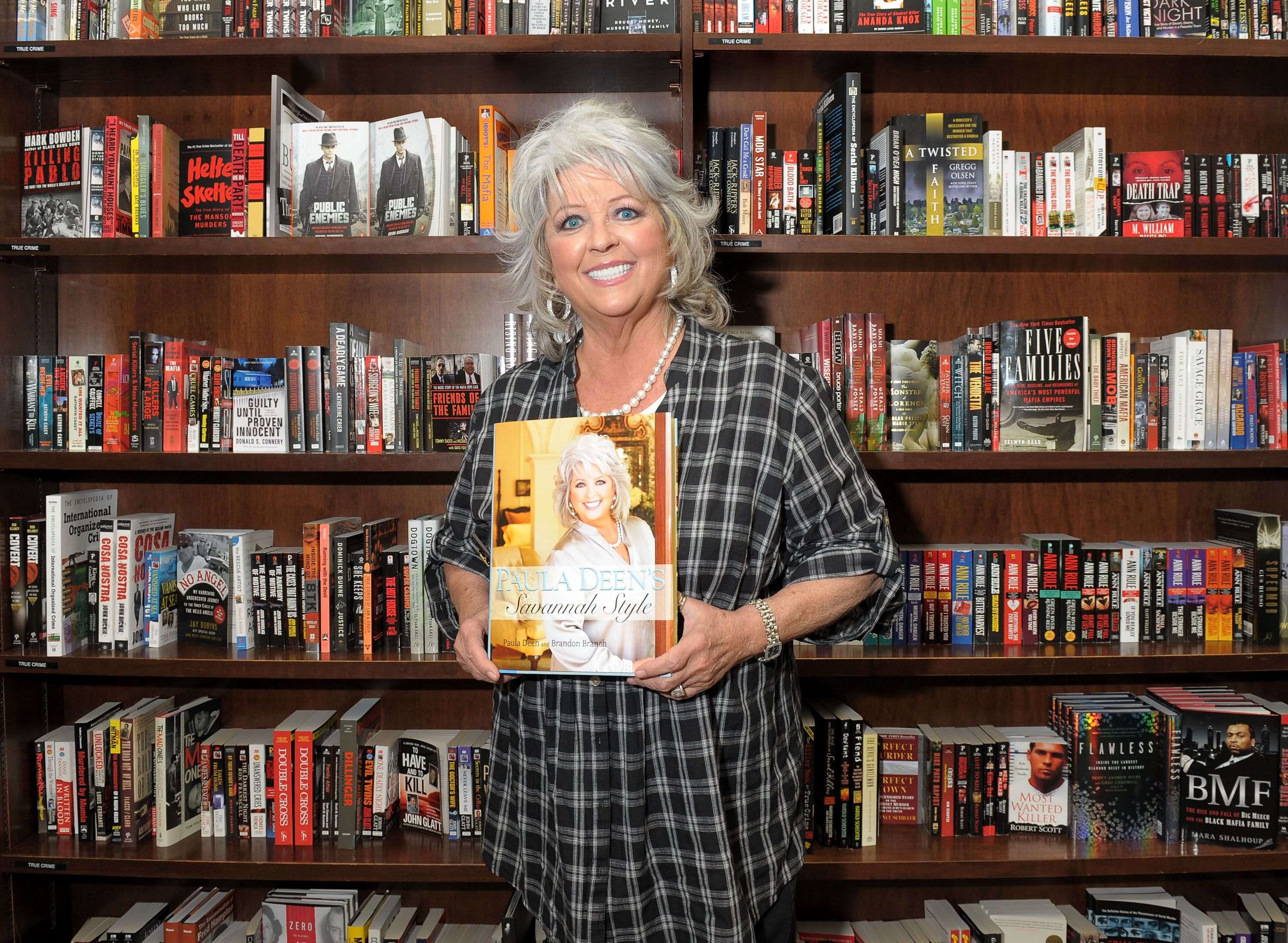 """Paula Deen at the launch of herdesign book """"Paula Deen's Savannah Style"""" in 2010 in New York City 