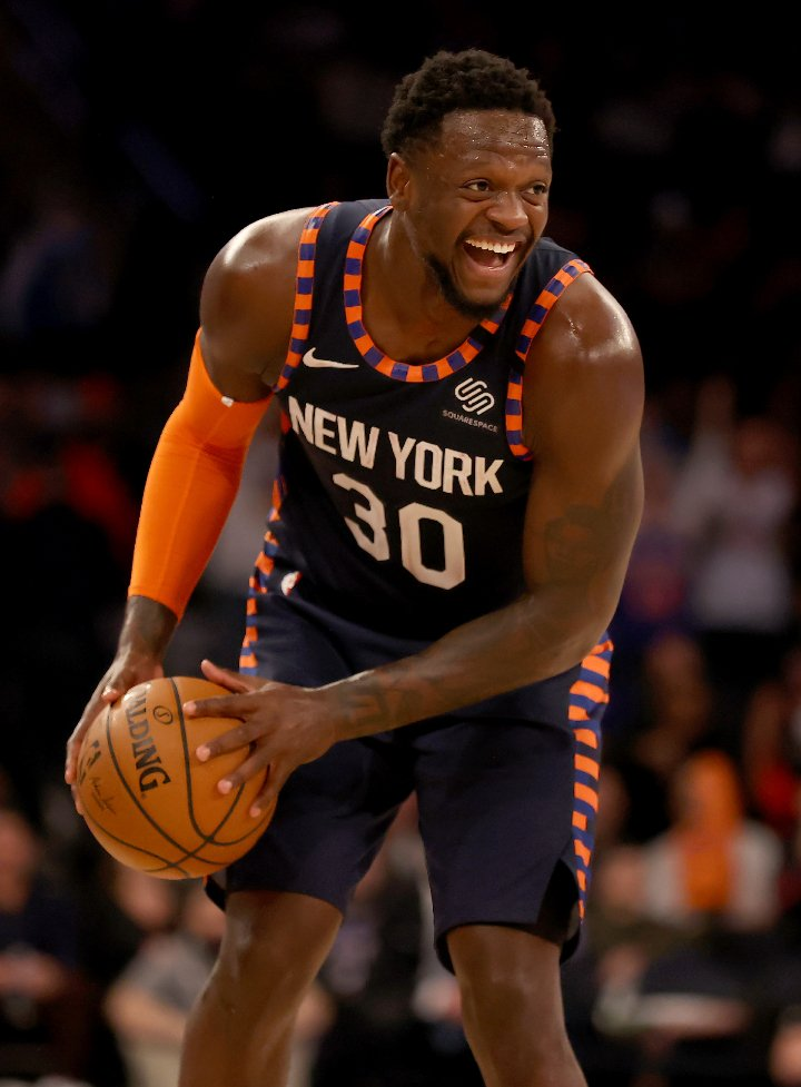 Julius Randle in the game against the Chicago Bulls at Madison Square Garden in New York City, in February 2020. | Image: Getty Images.
