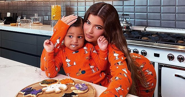 Kylie Jenner and Her Daughter Stormi Wear Matching Pajamas While Baking Halloween Cookies