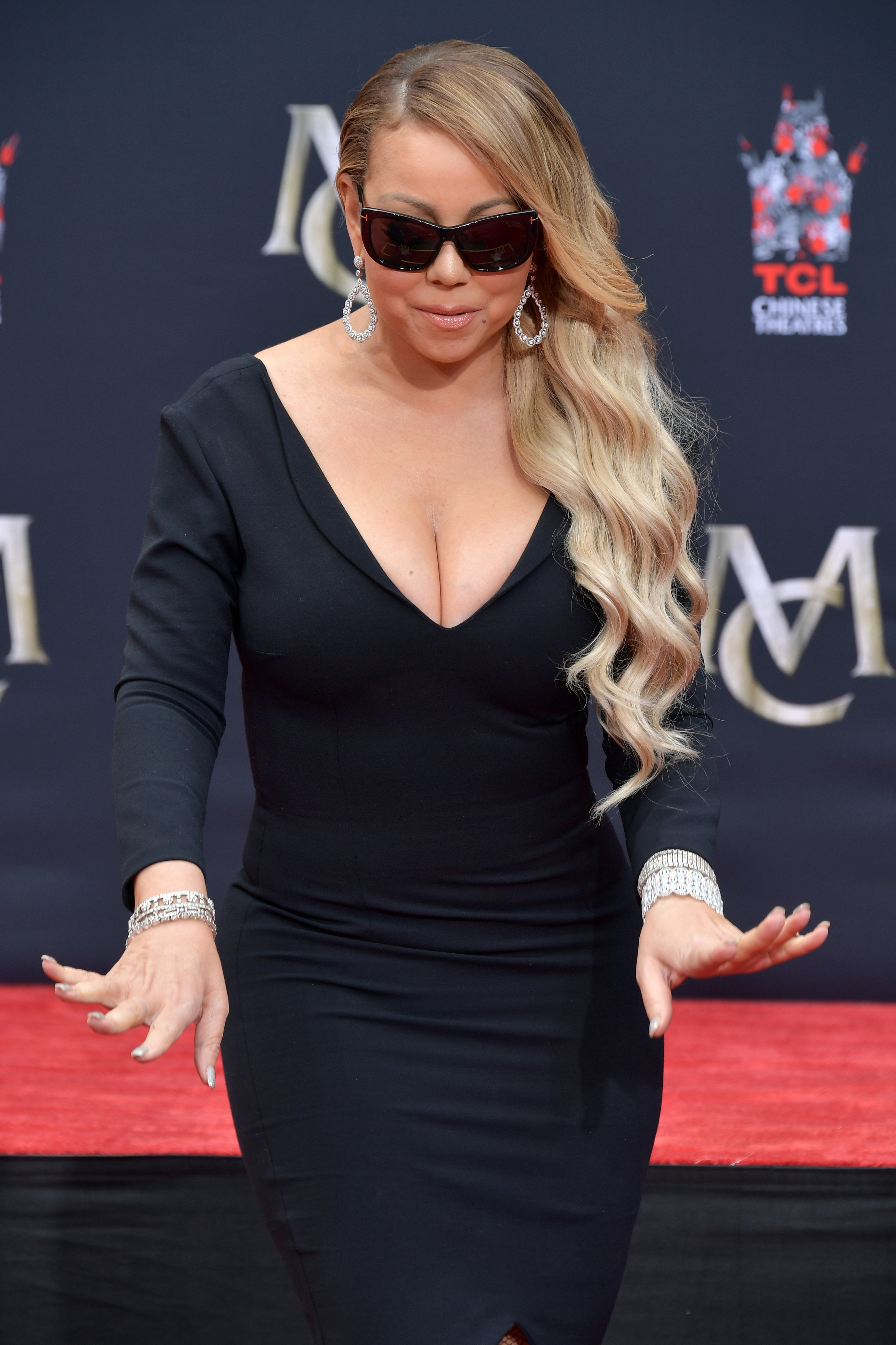 Mariah Carey is honored with a Hand and Footprint Ceremony at TCL Chinese Theatre on November 1, 2017 in Hollywood, California | Photo: GettyImages