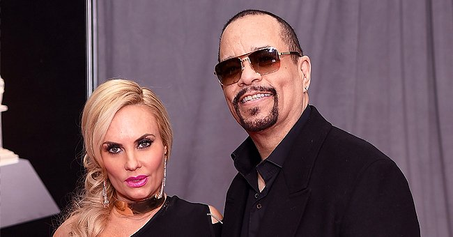 Ice-T's Wife Coco Austin Looks Gorgeous in a Black Silk Mini Dress in a Throwback Photo with Her Friend