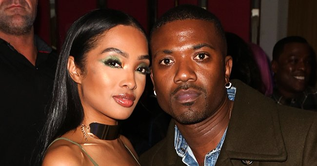 Ray J's Wife Princess Love Covers Baby Bump in Plunging Flowy Gown at LHHH Reunion