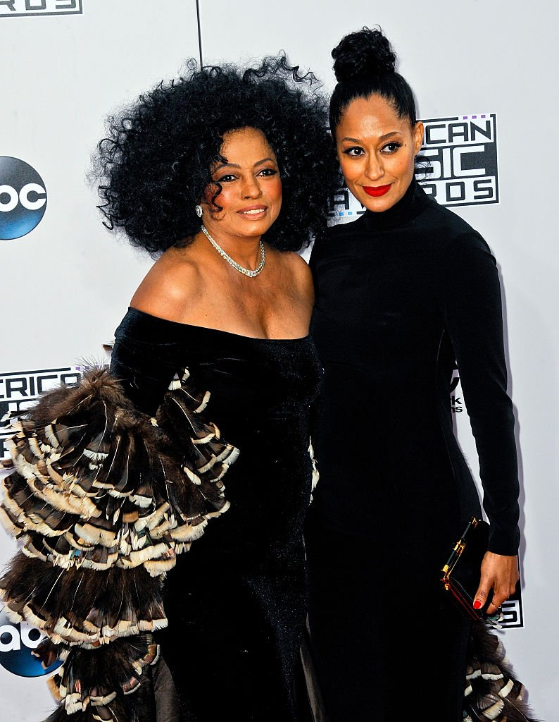 Diana Ross and daughter, Tracee Ellis Ross at the 42nd Annual American Music Awards on November 23, 2014 | Photo: Getty Images