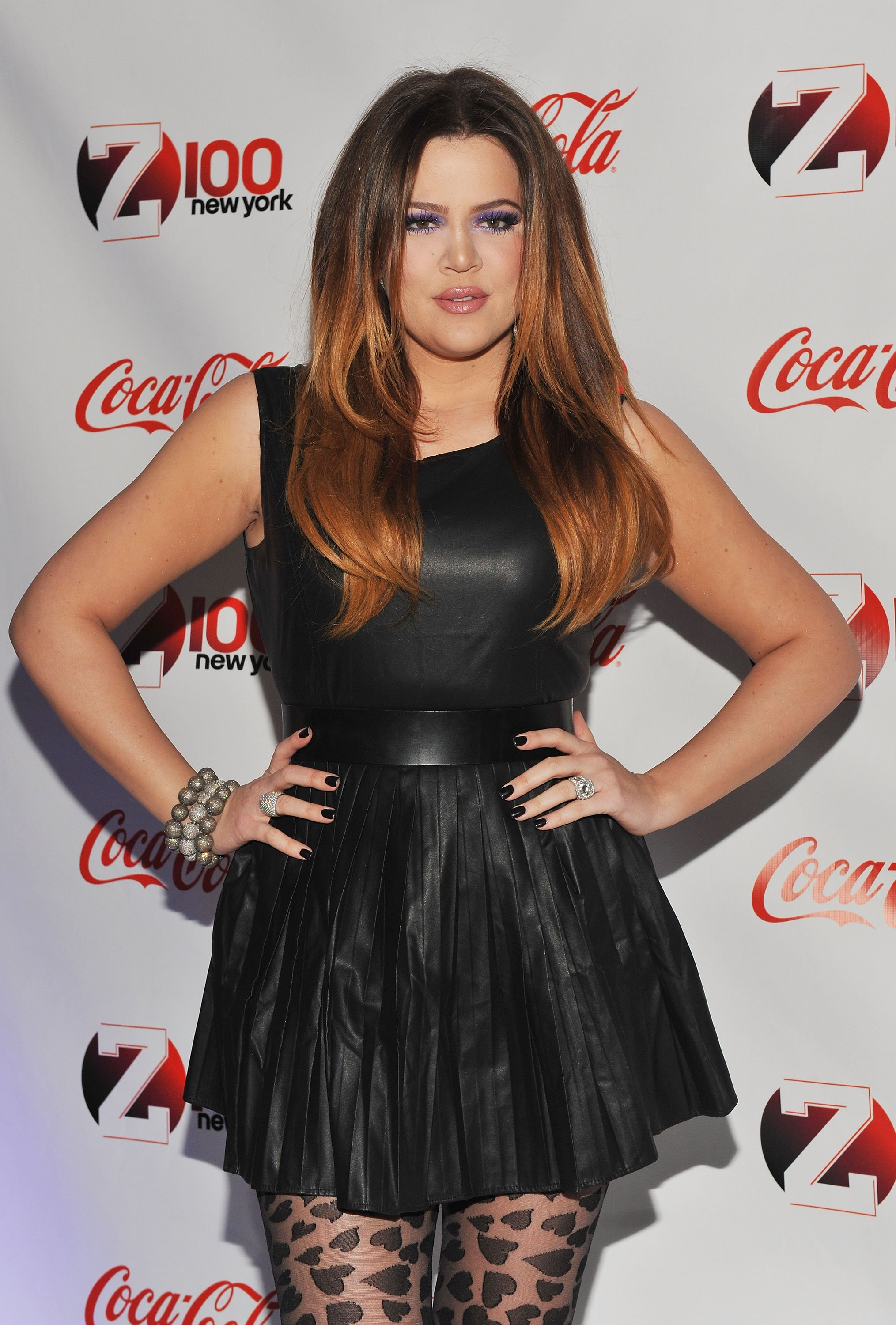 Khloé Kardashian attends the Z100 & Coca-Cola All Access lounge Jingle Ball pre-show in New York on December 9, 2011 | Photo: Getty Images