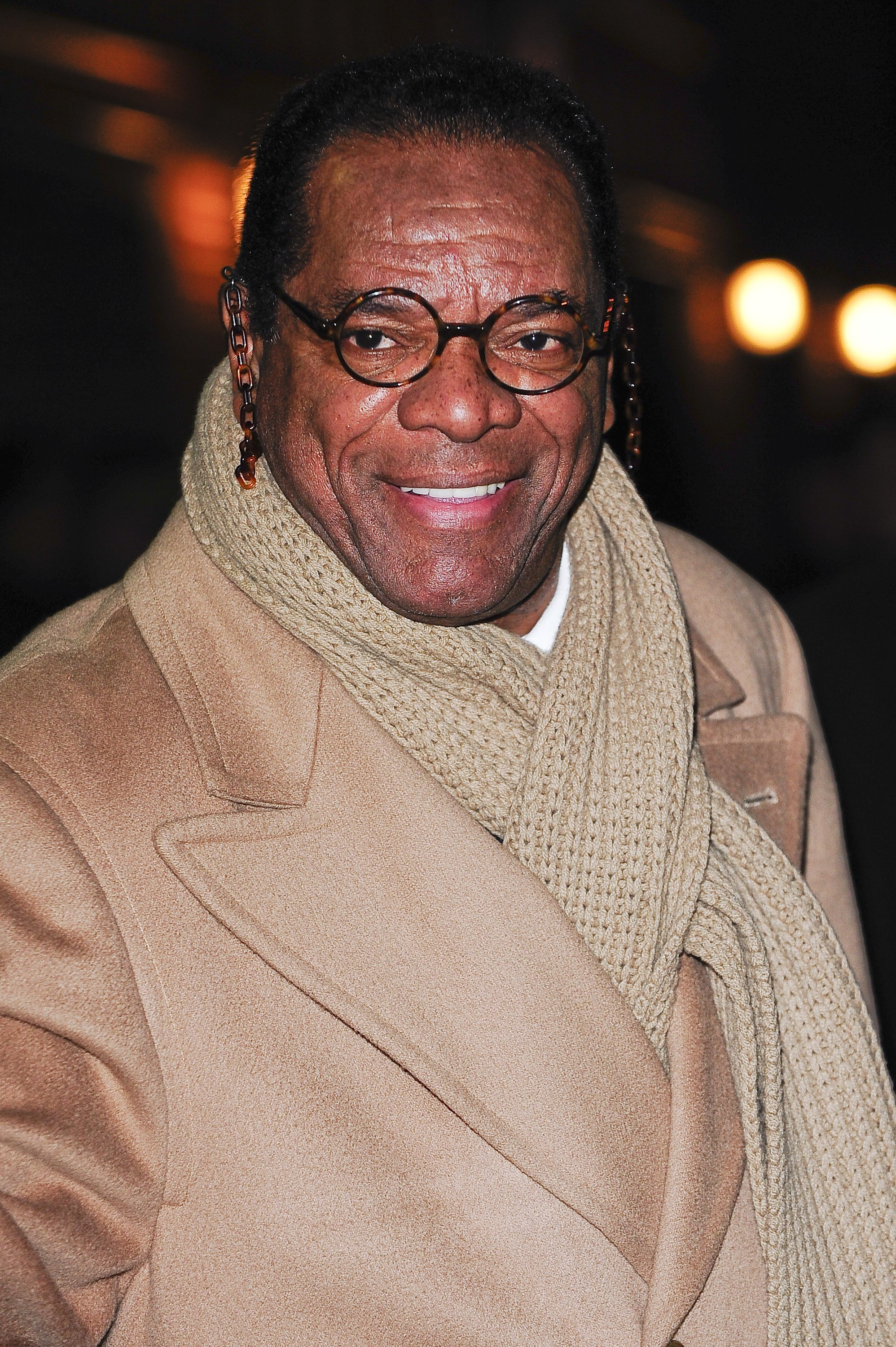 """John Witherspoon visits the """"Late Show With David Letterman"""" on Dec. 21, 2009 in New York City 