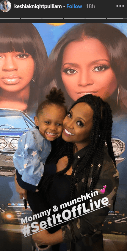 Actress Keshia Knight Pulliam carrying her daughter, Ella Grace in her arms | Photo: Instagram/KeshiaKnightPulliam
