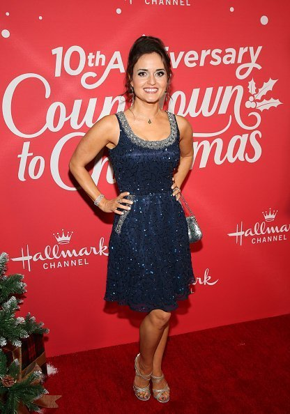 """Danica McKellar attends Hallmark Channel's 10th Anniversary of """"Countdown To Christmas"""" screening and party at 189 by Dominique Ansel  