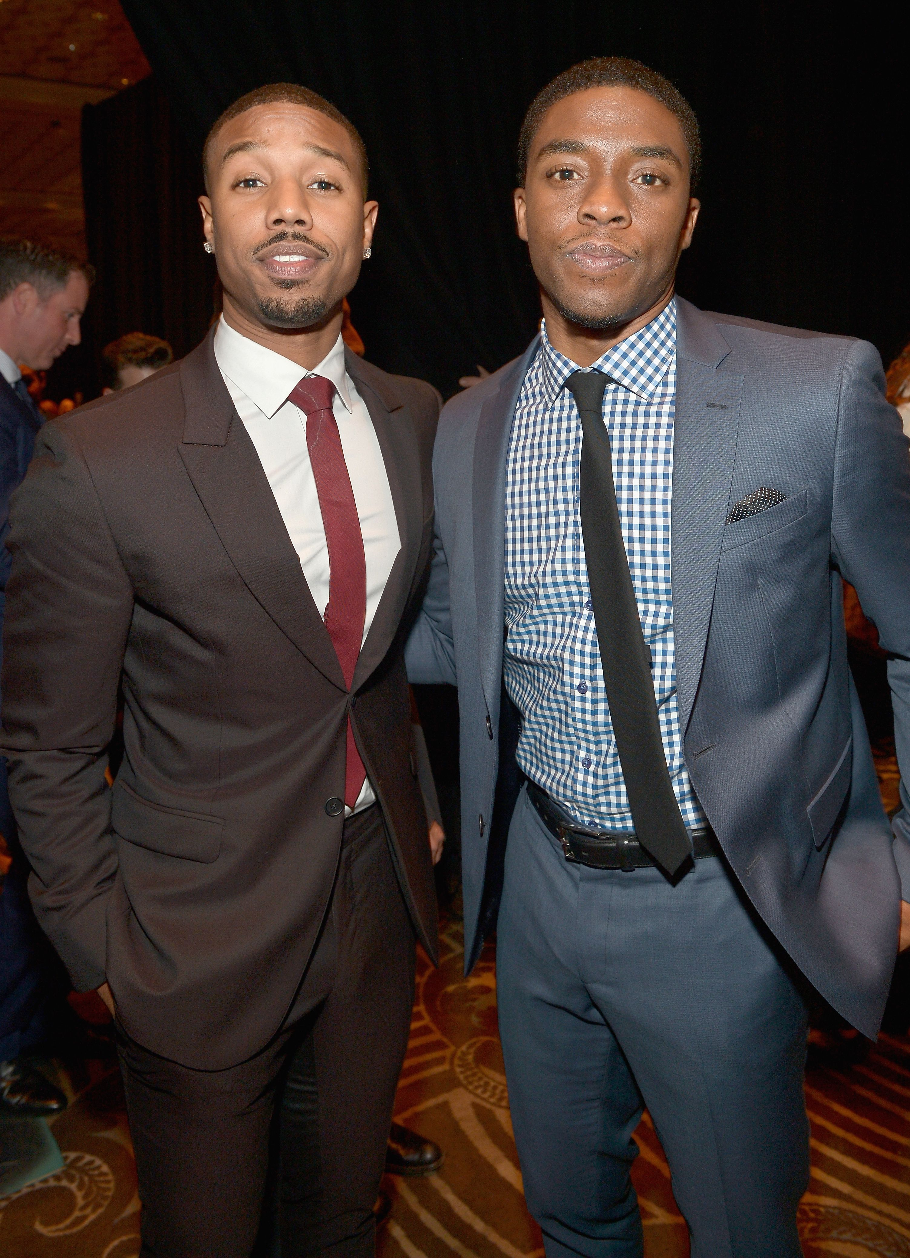 Michael B. Jordan and Chadwick Boseman attend The CinemaCon Big Screen Achievement Awards at The Colosseum at Caesars Palace on March 27, 2014 in Las Vegas, Nevada. | Photo: Getty Images