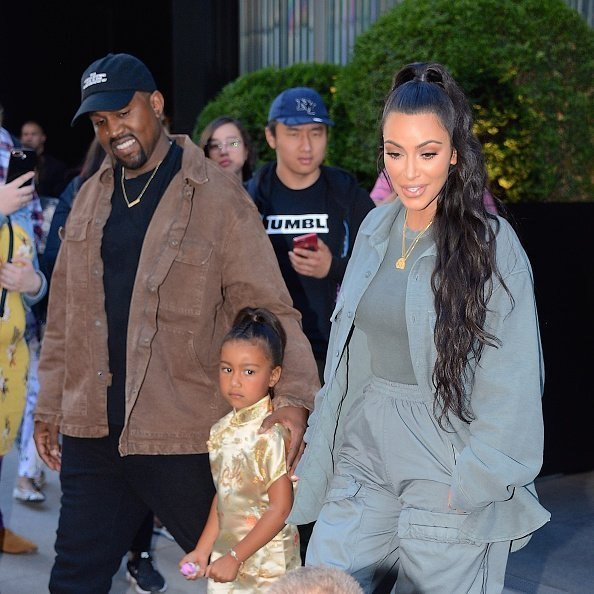 Kanye West, Kim Kardashian and daughter North West seen out and about in Manhattan on June 15, 2018 in New York City. | Photo: Getty Images