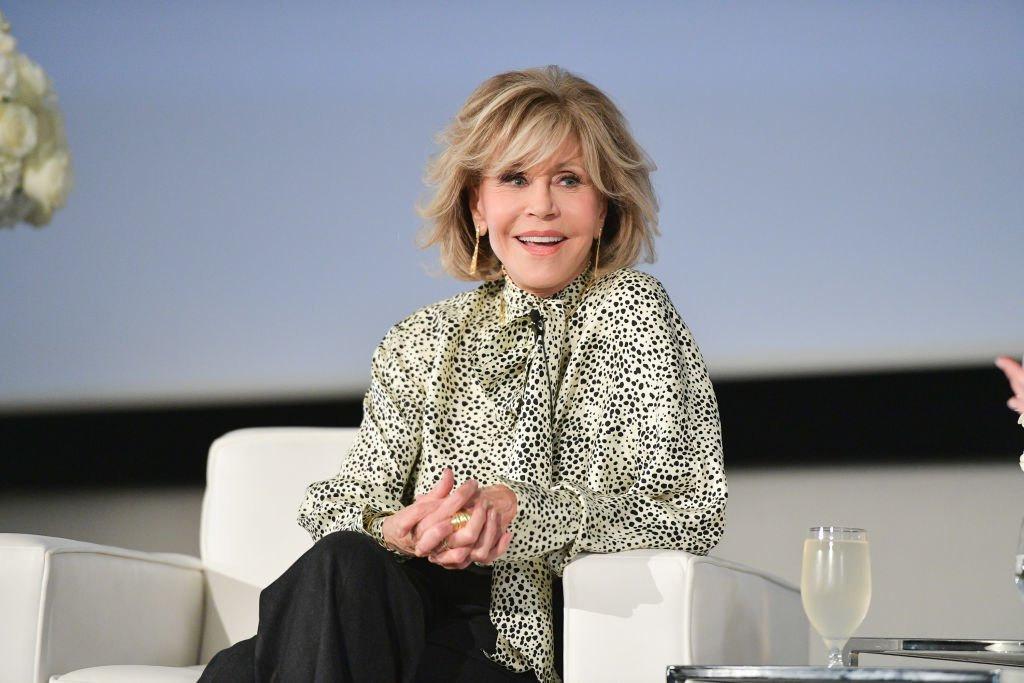 Jane Fonda pictured speaking at the L'Oréal In Conversation with Jane Fonda, 2019, Toronto, Canada. | Photo: Getty Images